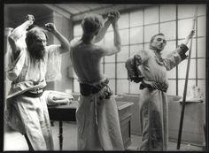Alphonse Mucha / Models posing as struggling figures for 'The Slav Epic' cycle No.2: The Celebration of Svantovít (1911-1912)