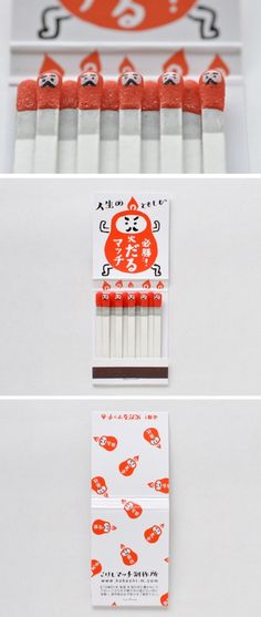 Adorable Kokeshi Matches and packaging from Japan