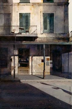 Watercolor artist Dean Mitchell is known for his figurative works, landscapes and still lifes. Watercolor Architecture, Watercolor Landscape, Landscape Paintings, Watercolor Paintings, Watercolours, Oil Paintings, Landscapes, Dean Mitchell, Pintura Exterior