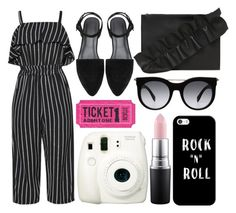 """""""street style"""" by sisaez ❤ liked on Polyvore featuring MSGM, Alexander McQueen, Fujifilm, Casetify and MAC Cosmetics"""