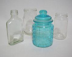 古いボトル ガラスキャニスターの4点セット アンティーク瓶 Antique glass bottles ¥899yen 〆04月02日