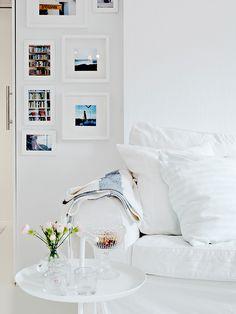 branco total, cores, quadros, parede
