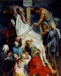 L'uomo della sindone 5 - Peter Paul Rubens, Deposizione (1616-1617), olio su tela. Lille, Musée des Beaux-Arts (Scala).