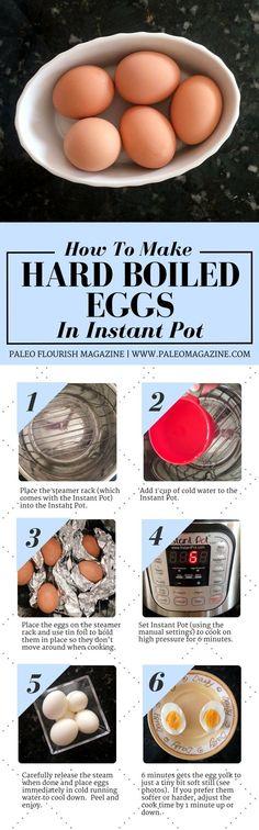 How To Make Hard Boiled Eggs In Instant Pot #paleo #recipes #glutenfree http://paleomagazine.com/hard-boiled-eggs-instant-pot