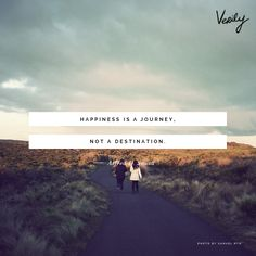 """""""Happiness is a journey, not a destination"""" #DailyDose #Quotes"""