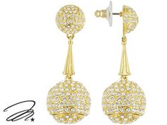 Marilyn Monroe (Tm) Jewelry Collection, 14k Yellow Gold Over Bronze Crystal Earring