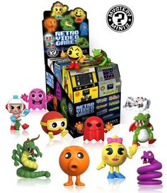 Attention retro gamers! Collect all of your favorite retro video game characters from PAC-MAN, Ms. PAC-MAN, Q*bert, Frogger, Mega Man & Dig Dug with the new Retro Video Games Mystery Minis set! Mystery Minis: Retro Video Games  Coming in March!