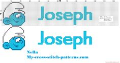 Joseph name with baby smurf