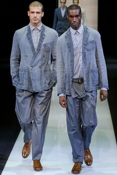 Armani Resort SS13.  washed out lineny denim.