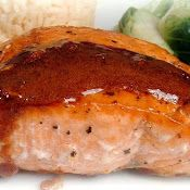 A Feast for the Eyes: Wasabi & Honey Glazed Salmon with Coconut Rice