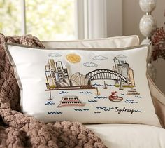 Sydney Embroidered Pillow Cover | Pottery Barn