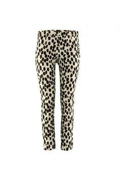 $39.99 Spots Print White Skinny Pants @ MayKool.com