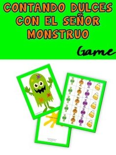 This simple activity will get your students excited about counting in Spanish. This set includes a craft monster you will need to put together before class. It also includes teaching tips and a lot of fun!Enjoy,Carolinawww.FunforSpanishTeachers.com Spanish Teaching Resources, Teaching Tips, Halloween Games, Counting, School Ideas, Students, French, Activities, Learning