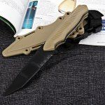 Fashionable Outdoor Decoration Model Plastic Knife with Scabbard