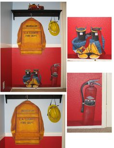 Fireman room-This is so cool! I think I need to find someone to ut this on Eve's wall