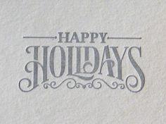 Happy Holidays by Cory Say, via Behance