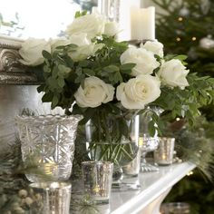 Keep it natural - Christmas mantel
