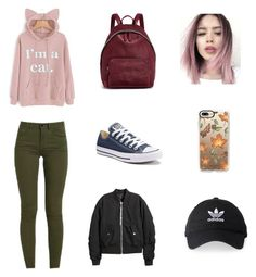 """Outfit Of The Day"" by swaggybear15 on Polyvore featuring Converse, STELLA McCARTNEY, H&M, Casetify and adidas"