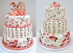 i must be getting old because I absolutely love the painting style and colors of this cake