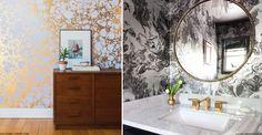 Marble-Effect Wallpaper