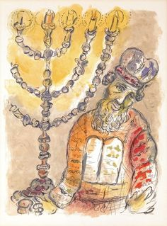 Marc Chagall - Aaron and the Lamp from The Story of the Exodus suite, 1966