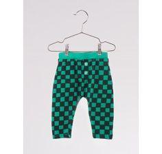 Bobo Choses Baby Sweatpants Checked Deep green