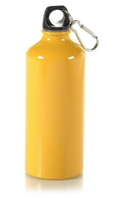 Yellow  Sports Bottle with Carabiner