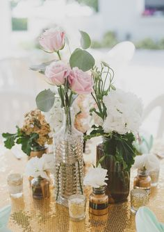 Mint and gold destination wedding | Photo by Dixie Pixel | Florals by Whimsical Gatherings | Read more - http://www.100layercake.com/blog/?p=66859