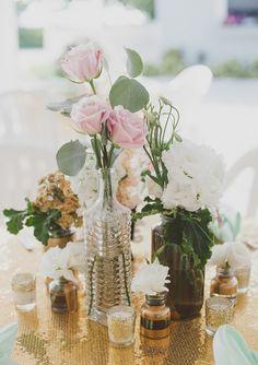 Mint and gold destination wedding: Anne Marie + Drew
