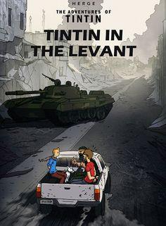 Tintin in fhe Levant - Tanque y Camioneta Comics Illustration, Illustrations, Comic Book Artists, Comic Books, St Max, Album Tintin, Herge Tintin, Bd Comics, Book Cover Art