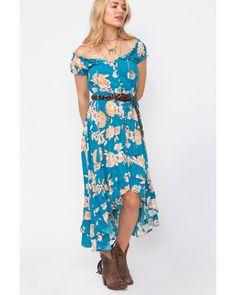 99b1038dbdc Shyanne Women s Floral Button-Down High-Low Dress