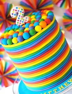 Leuke fleurige taart