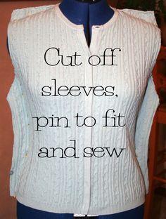 refashioned+clothes+photos | Sweater refashion tutorial | Clothing DIY Refashion