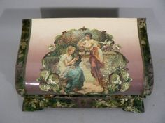 ANTIQUE Victorian CELLULOID jewelry box