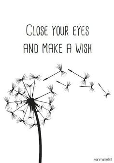 Quotes about Happiness : Dandelion w/ sèeds close your eyes and make a wish Words Quotes, Me Quotes, Sayings, Qoutes, Wish Quotes, Message Positif, Make A Wish, Positive Quotes, Inspirational Quotes