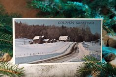 Christmas Card Photography Art Landscape by ADKArtsBoutique, $3.95