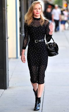Kate Bosworth from The Big Picture: Today's Hot Pics  The actress and fashionista is seen leaving a lunch in New Orleans rocking a chic polka dot dress.
