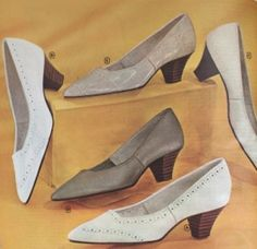 1960s Stacked Heel Pumps and shoes.