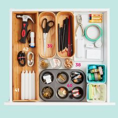 Put on your Marie Kondo hat! These hacks for your bedroom, kitchen and office will have your home organized in no time — and help keep it that way. Organisation Hacks, Organizing Hacks, Organizing Your Home, Cleaning Hacks, Organising, Galley Kitchen Design, Small Kitchen Layouts, Declutter Your Life, Kitchen Cabinet Organization