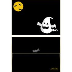 Halloween ISO C6 0004,Envelopes ,Card,Halloween,black,ghost,ghost,bat,pumpkin,yellow Canon Inc, Fun Prints, Ghost Ghost, Paper Crafts, Scrapbook, Envelopes, Creative, Cards, Pumpkin