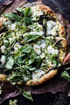 Garden Greens Goddess Pizza   halfbakedharvest.com @hbharvest