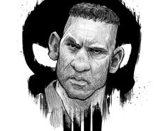 Some Punisher fanart from Daredevil season 2. While MM is running around crying, this guy has me glued to the screen.