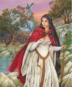 "Avalon Camelot King Arthur:  ""Viviane, the #Lady of the #Lake."" Illustrator Zephir Elph."