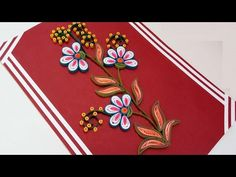 How to Make Beautiful Quilling flowers design Happy Birthday Greeting Card