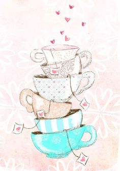 Find images and videos about pink, wallpaper and tea on We Heart It - the app to get lost in what you love. Cute Wallpapers, Wallpaper Backgrounds, Iphone Wallpaper, Illustration Mode, Illustrations, Buch Design, Make Pictures, Tea Art, Planner Stickers