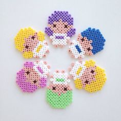 Hama kids, can be used as magnets or just to play with :)