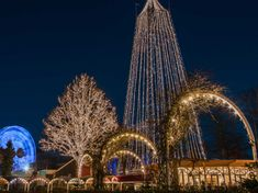 """Is it possible to add a bit more """"hygge"""" to an amusement park through Christmas lighting, festive decoration and static and animatronic characters? Festival Decorations, Holiday Lights, Amusement Park, Hygge, Cactus Plants, Denmark, Festive, Destinations, Characters"""