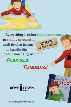This comical story teaches flexible thinking. Learning how to react appropriately to challenging situations is an important executive function skill Teaching Kids, Kids Learning, Bryan Smith, Help Kids, Screwed Up, Asd, New Books, Flexibility, Things To Think About