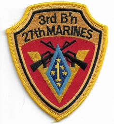 Accessoires, losse onderdelen Embroidered Military Patch USMC 3rd Battalion 4th Marines NEW Thundering Third r Overig