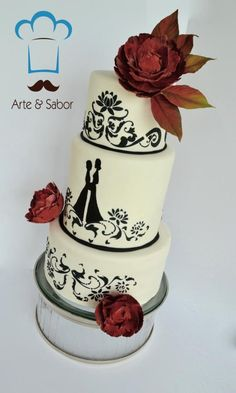 - Cake by arteysabor Silhouette Cake, Cupcake Cakes, Cupcakes, Beach Cakes, White Cakes, Cake Gallery, Awesome Cakes, Daily Inspiration, Frost